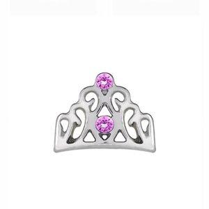 3/$15 🖤 ORIGAMI OWL 🖤 Pink CZ Tiara Crown Charm
